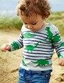 2016 la primavera y El Otoño período especial de manga larga T-shirt de algodón T-shirt para niños y niñas