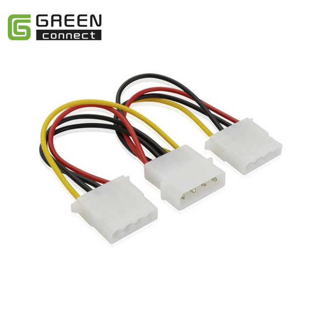 Greenconnect Molex 4pin Y-Power cable splitter adapter