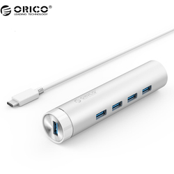 ORICO ARH4-U3 Aluminum 4 Port USB3.0 HuB  for Cellphone, Laptop, Desktop and Other Devices