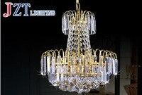 M Europe Modern Luxury Royal Empire Golden Crystal Chandeliers Duplex Stairs Light Fixture K9 Crystal Lamp