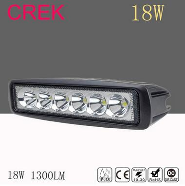 18W LED Work Light Bar Dust Proof Protective Covers 4x4 4WD 12V 24V Amber Clear Black Color Lamp Shell LED Working Light Lamps ...