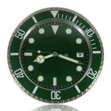 Oyster Home Decorative Wall Clock Brand Modern Watch Design Luxury relogio parede Green Black Blue With Calendar