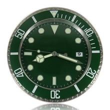 Oyster Home Decorative Wall Clock Brand Modern Watch Design Luxury relogio parede Green Black Blue With Calendar