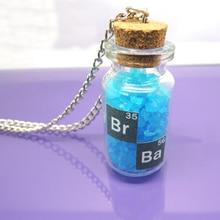 breaking bad inspired cristallo blue sky fiala cork collana bottiglia bagno di sale collana regali per le donneuomini