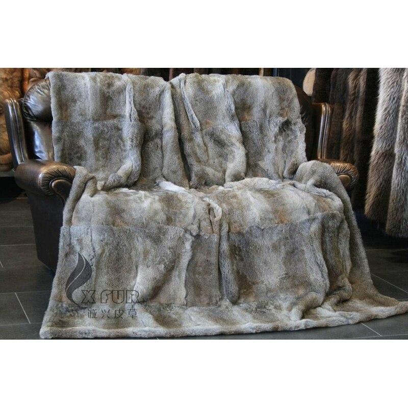 CX-D-08B/Z 218x218 см на диван-кровать для дома Натуральный Цвет натуральная одеяло из меха кролика