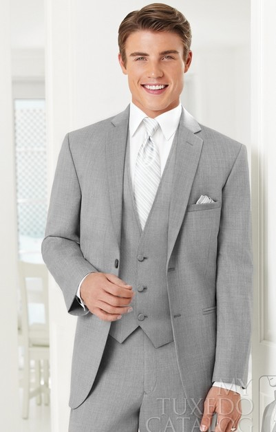 Mens Wedding Suits 2017 Men Heather Grey Twilight Ceremonia Suit Business Designer Tuxedo