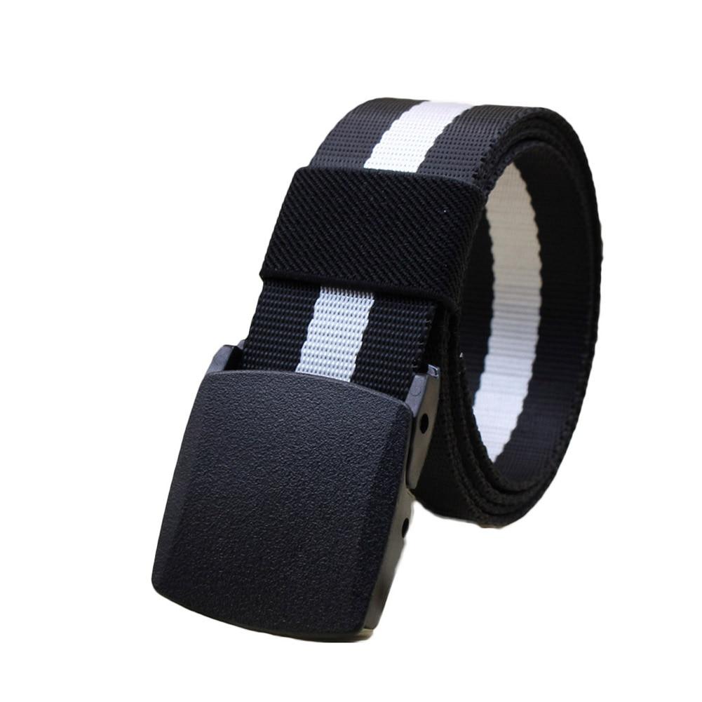 Fashion Hypoallergenic Metal Plastic Automatic Buckle Men Canvas Belt