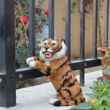 Unique Gift Beautiful Handmade Fur Covered Plastic Cheap Toy Simulation Tiger For Sale