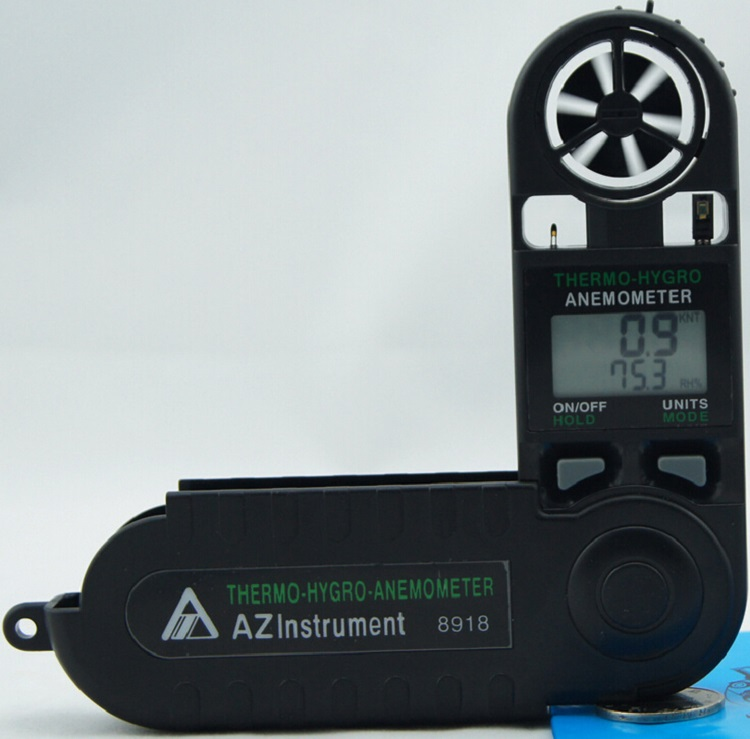 2016 newest AZ-8918 Mini Pocket Type Digital Air Flow Meter Windspeed Tester