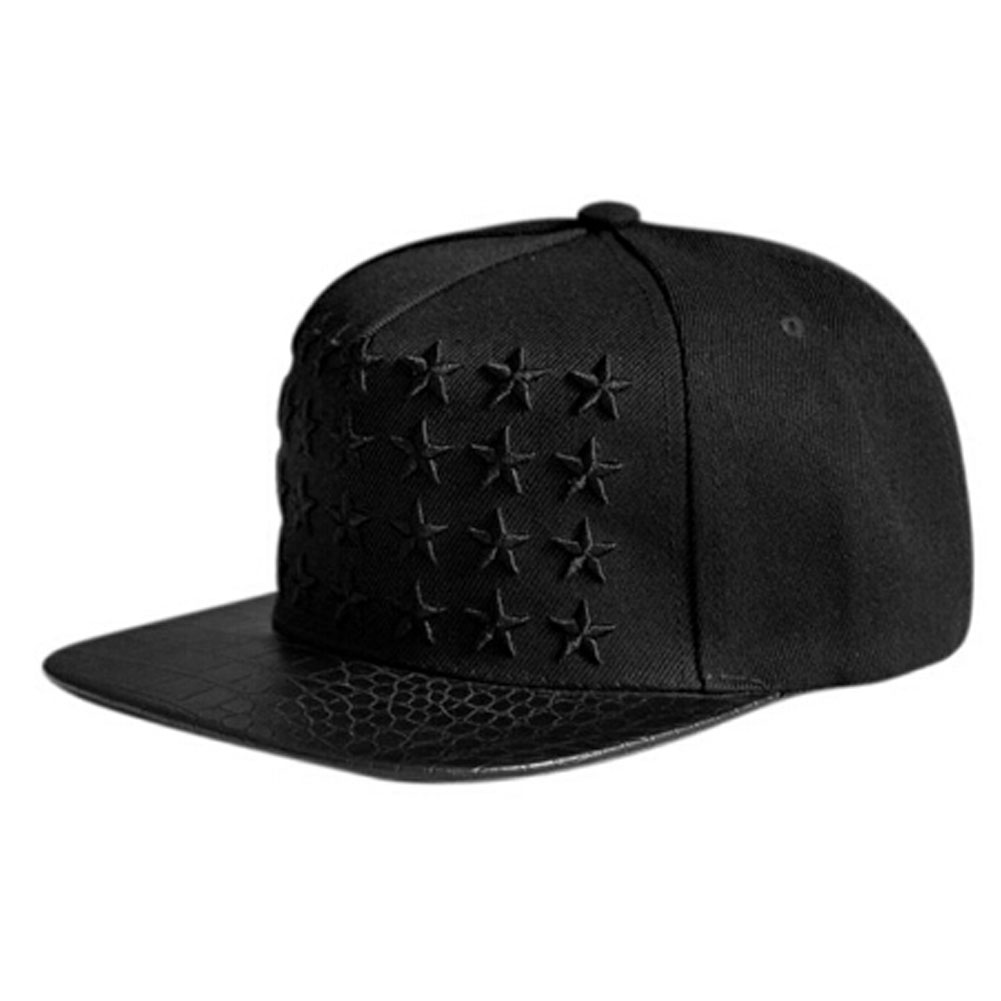 2017 Fashion Snapback Hip Hop Hat Tide Right  Full Embroidery Five-Pointed Star Baseball Cap Hip-hop Cap Baseball Cap 2 Colors