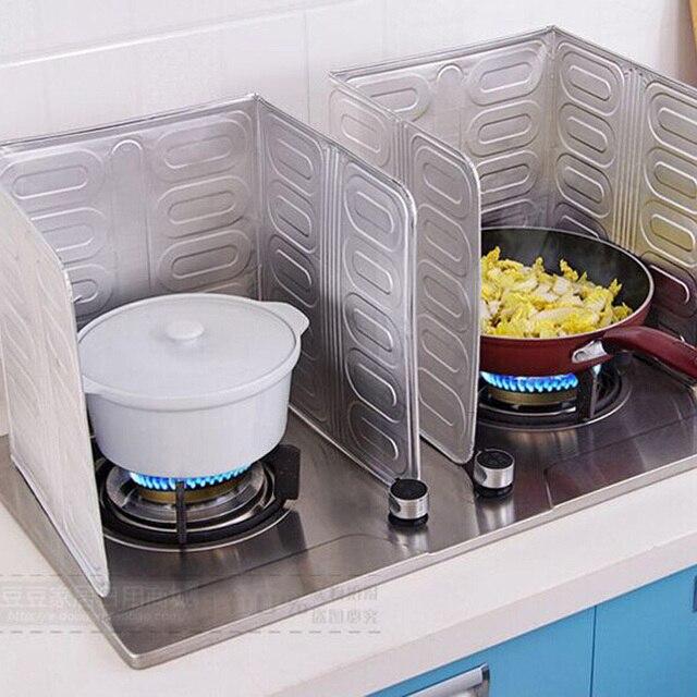 Dapur Minyak Aluminium Foil Piring Layar Memerciki Kompor Gas Alat Memasak Insulate Splash Bukti