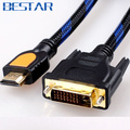 HDMI cable1.5m 3 m 5 m 10 m 15 m 20 m HDMI para DVI DVI-D 24 + 1 pin adaptador de cabos Para HDTV LCD DVD XBOX PS3 Projetor Set Top Box TV