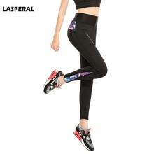 LASPERAL Fitness Leggings Women Patchwork High Waist Slim Leggings Pants Printed Elastictiy Sexy Women Legins Female Jeggiings