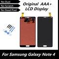 100% оригинальный черный жк-цифровой для Samsung Galaxy Note4 N910C N910F SM-N910 N910X для примечание 4 IV замены дигитайзер ассамблеи