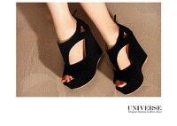 бесплатная доставка новое постулат с открытым значок cia обуви - туфли на высоком bloke босоножки на Платформа женские туфли на платформе женские туфли