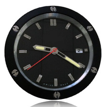 Flash Delivery Brief Fashion Watch Clock Wall Fully Metal Stainless Steel Silent Sweeping Mechanism Luminova & Date