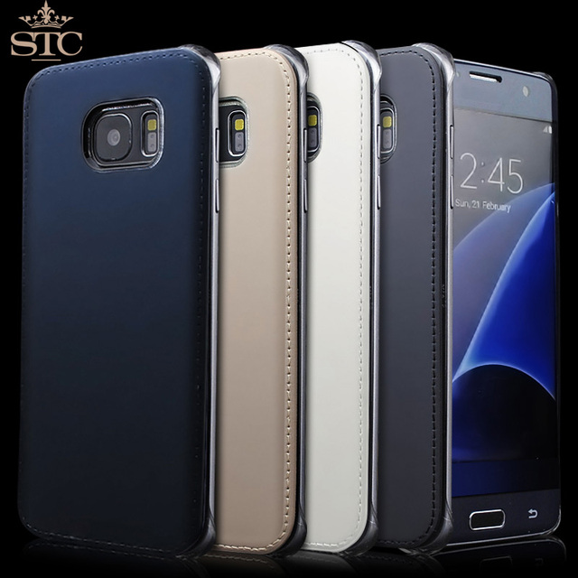 samsung phone back. for samsung galaxy s7 \u0026 edge case leather back cover original phone