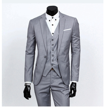 2016 New Custom Made One Button Men's Wedding Suits Groom Suits Bridal Tuxedos Formal Occasion Party Suits