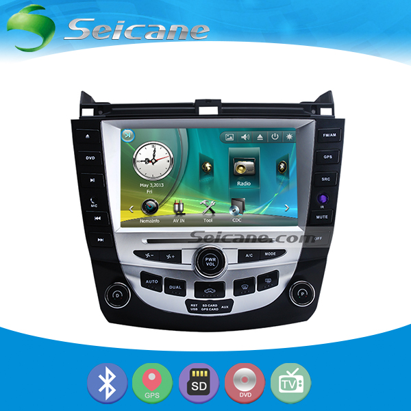 Car Andriod gps navigation for 2003 2007 honda accord 7 car stereo with DVD Bluetooth steering