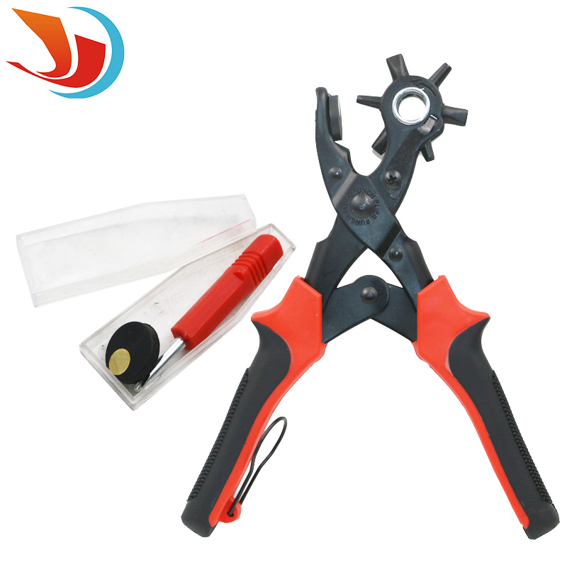 1pcs High Quality 6 Size Kit Revolving Heavy Duty Leather Belt Hole Punch Puncher Cut Eyelet Plier  цены