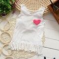 Cotton Girls Summer Tassel Vest 2-3-4-5 Years Old Girls Baby Summer Sleeveless Vest Coat for Children