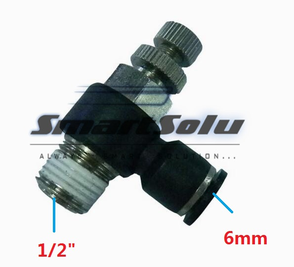 Free Shipping10pcs/lot SL06-04Pneumatic Throttle Valve,Quick Push In 6MM Tube1/2 Inch Air Fitting Flow Controller free shipping 10pcs lot pu 6 pneumatic fitting plastic pipe fitting pu6 pu8 pu4 pu10 pu12 push in quick joint connect
