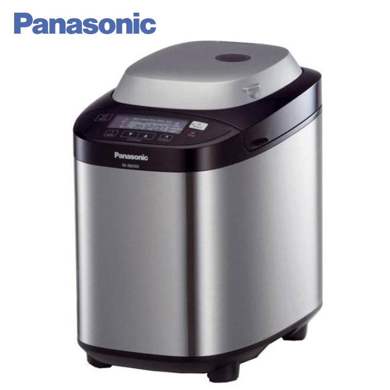 Panasonic SD-ZB2502BTS Breadmaker breakfast bread machine, 12 programs baking bread, 10 dough preparation programs, dispenser sandwich makers philips bread household baking 2 slices slots for breakfast toast machine automatic zipper