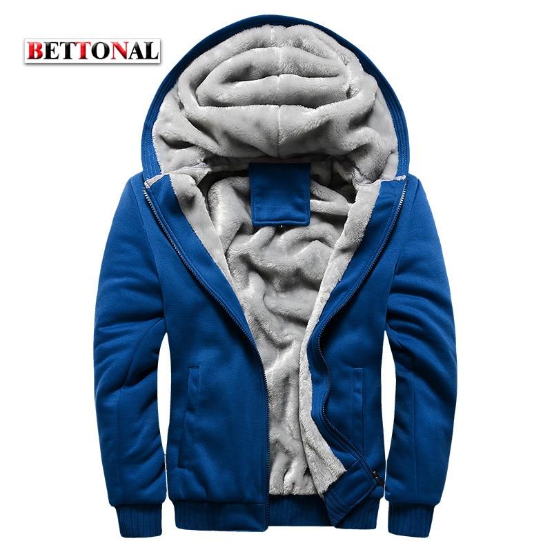 Bettonal осень-зима мужской moletom теплый толстый бархат сплошной Толстовка Для мужчин костюм мягкий В виде ракушки Для мужчин Толстовки и свитшоты