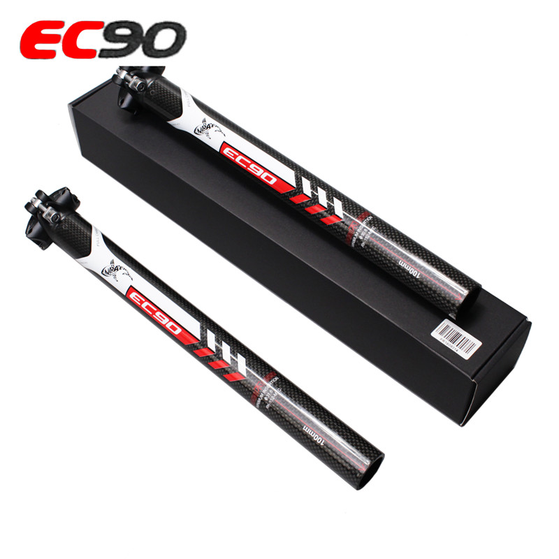Latest EC90mountainbike alloy 3K arat carbon saddle support road carbon bike saddle rests MTB 27,2 / 30,8 / 31,6 * 350 400mm Fre