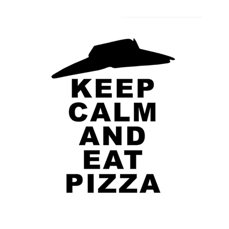 Customized English Car Stickers KEEP CALM AND EAT PIZZA