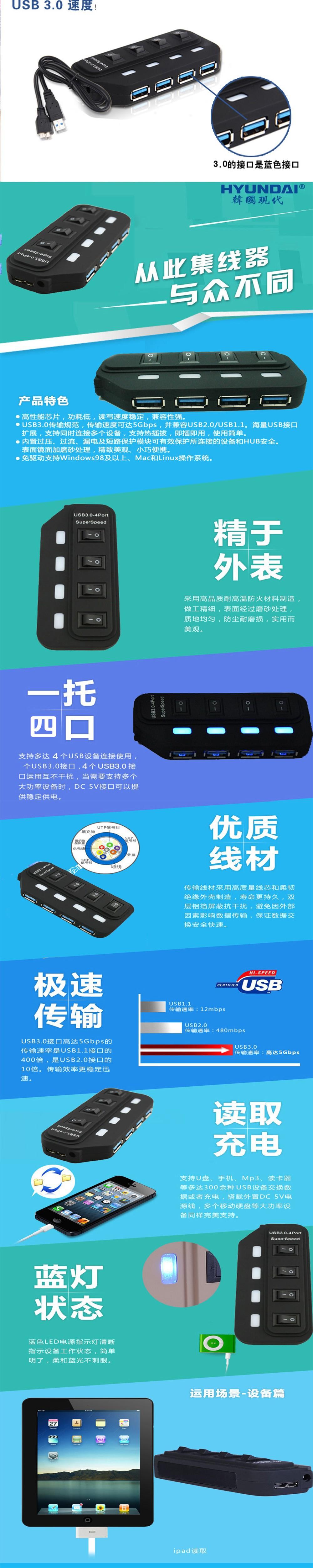 горячая бесплатная доставка новый интерфейс USB 3.0 5 гб/с 4 разъём УСБ хаб для компьютеров / таблетки концентраторы переходник с USB на зарядка + адаптер питания