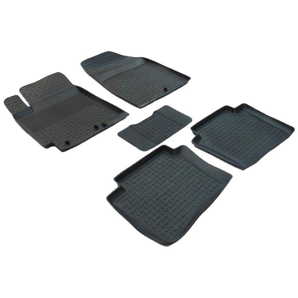For Hyundai Solaris 2011-2016 rubber floor mats into saloon 5 pcs/set  Seintex 82222