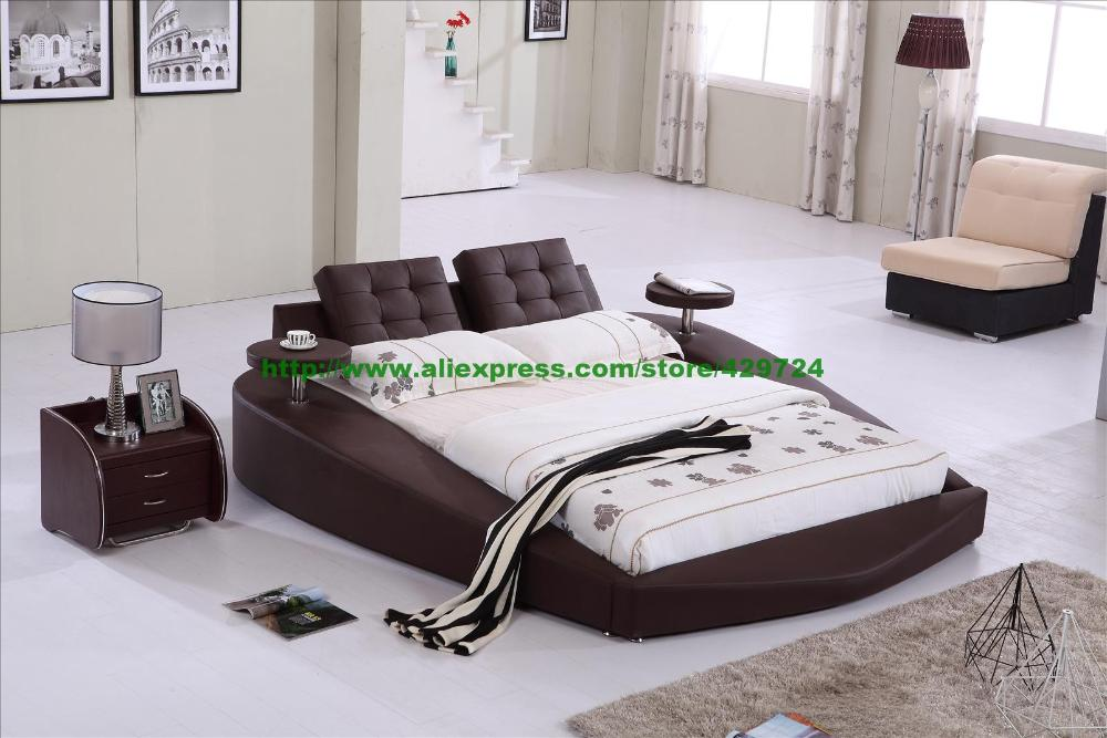 Aliexpresscom Buy Round Bed King size bed Top Grain Leather