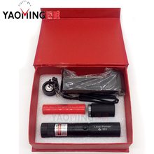 Big discount Gift box mini high powered burning laser pointer green laserpointer with 18650 battery and charger protable linternas