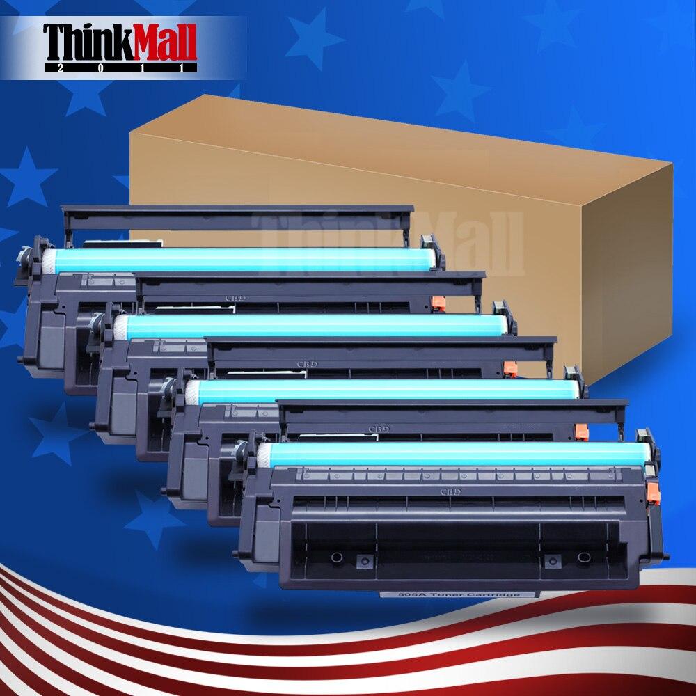 4 STÜCKE Toner für HQ CE505A HP LaserJet Drucker P2035 P2035n P2050...