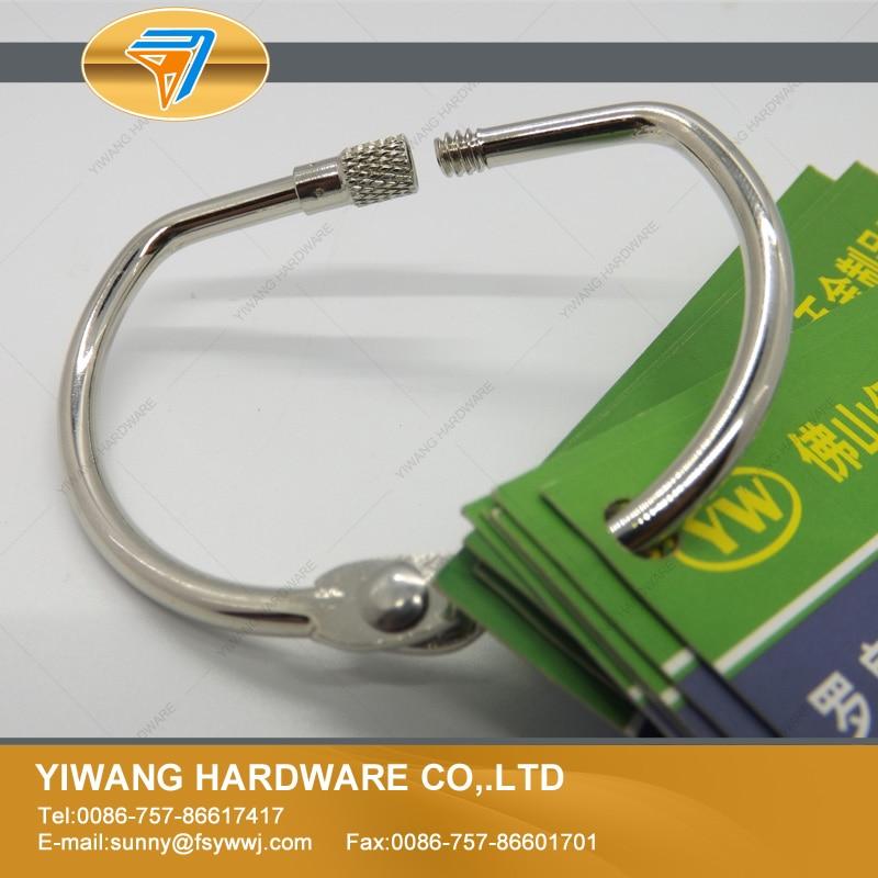 aliexpress boa qualidade do metal de folha solta pasta do livro aneis articulada anel d colecao