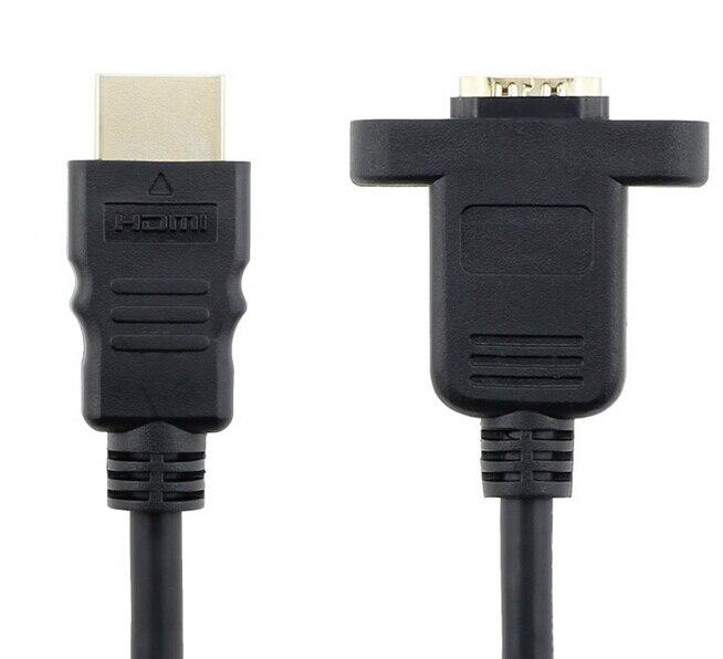 HDMI Un tipo macho a HDMI Hembra Cable de extensión Agujero de - Cables de computadora y conectores - foto 2
