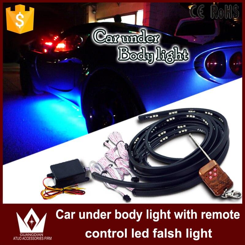 Guang Dian car led bulb 5050chip Light Under Car light Underglow Kit Neon Strip Light Underbody Glow Light 2pcs 120cm 2pcs 90cm от Aliexpress INT