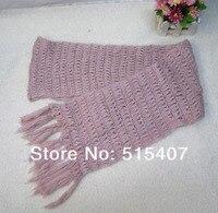 бесплатная доставка 100% акрил дамы вязаный шарф с крючком цветок
