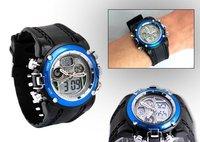 новый двухъядерный 2 день дата сигнализации мужские синий спорт наручные часы рождественский подарок a020
