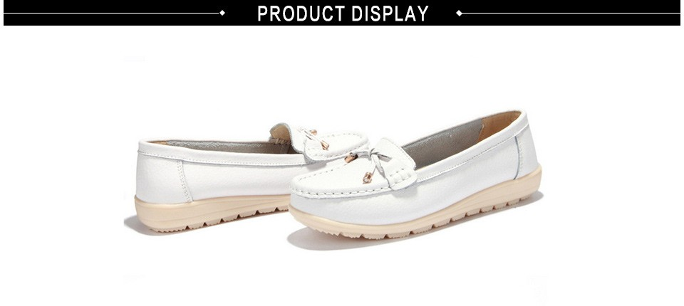 Leather women flats shoes 3