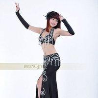710# профессиональный танец живота костюм с тазика 2 шт. бюстгальтер и юбка 6 цветов в наличии 100% ручной работы