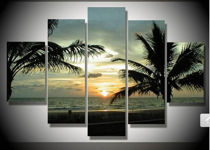 Wall Art Painting aliexpress : buy sunrise seascape picture wall art hand