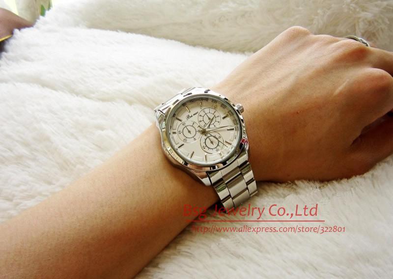 бесплатная доставка марка luxrury мужской часы мода часы из нержавеющей стали мужчина / мужские кварцевые наручные часы relogio мужчина для