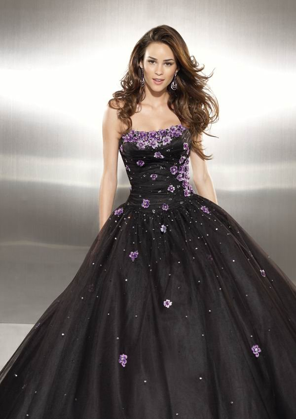 Free Shipping Gorgeous Strapless Princess Tulle Formal Evening Dress