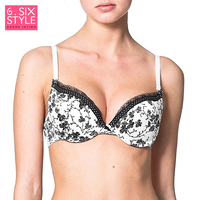 bf04a6af003b Woman's Bra Lace Black Push Up Cup Cotton Lining Large Size for Big Support  70 75