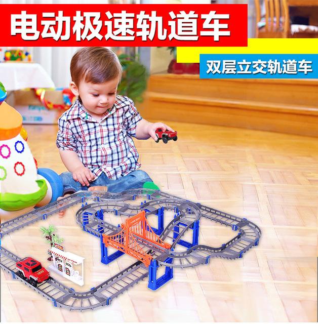 73 UNIDS Nuevos Amigos Trenes Juguetes Para Niños Coche Eléctrico de Ferrocarril Conjunto Trackmaster Motorizado Pista De Plástico Gris Hot Wheels