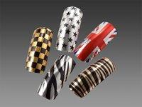 5 СКП. мод наклейки для ногтей Volga периоды зебра / звезда / флаг шаблон