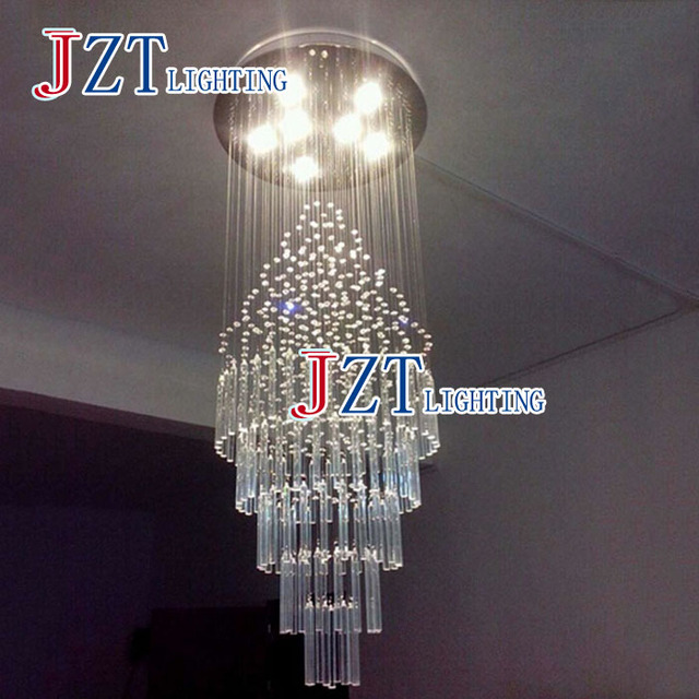 M Best Price LED Crystal Chandelier Villa Lobby Lounge Dining Room Lamp Double Staircase Long Crystal Chandelier Light