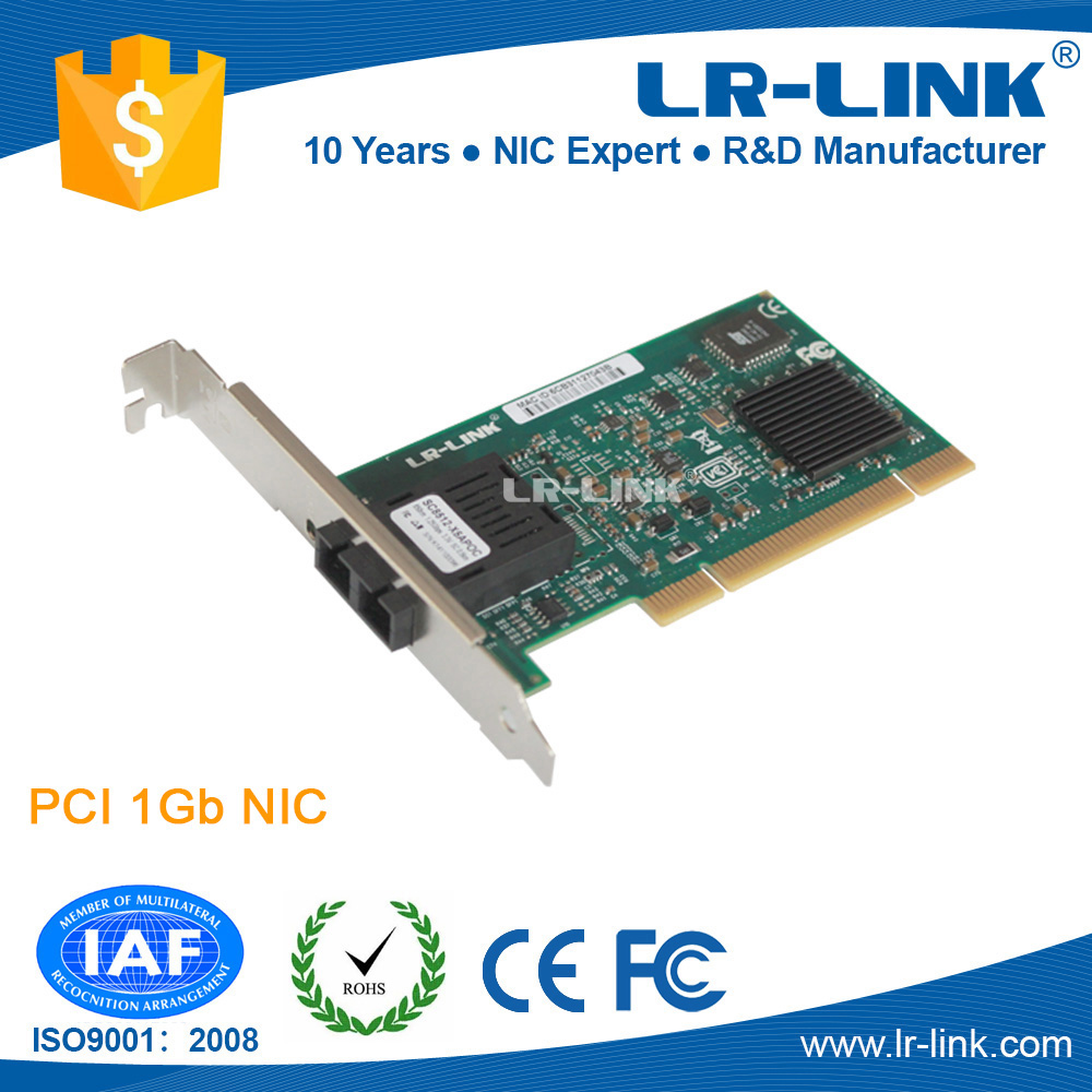 LREC7210PF-SC PCI Intel 82545 CHIP Gigabit Ethernet Network Card 10/100/1000Mb SC Port Fiber Optical Lan Adapter Controller NIC diewu 82545mf pci x gigabit fiber network adapter card nic w intel82545 gm em pwla8490mf single port multi mode fiber module